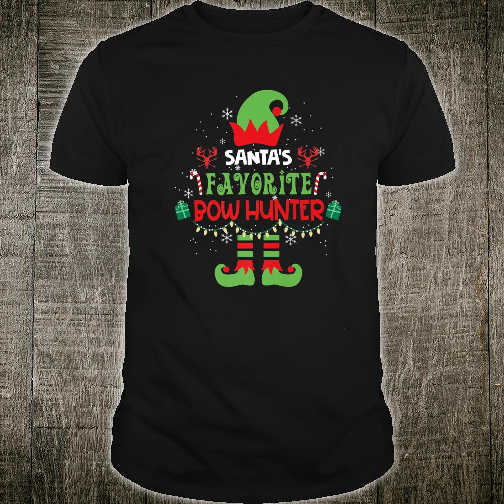 Santa's Favorite Bow Hunter Elf Christmas Xmas Family Shirt