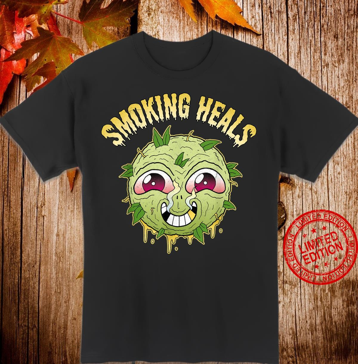 Smoking Weed Heals Medical Marijuana CBD Stoner Shirt