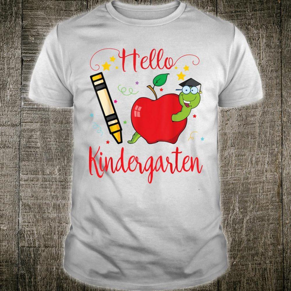 Star Crayon Pug Hello Kindergarten Happy 100th Day Of School Shirt