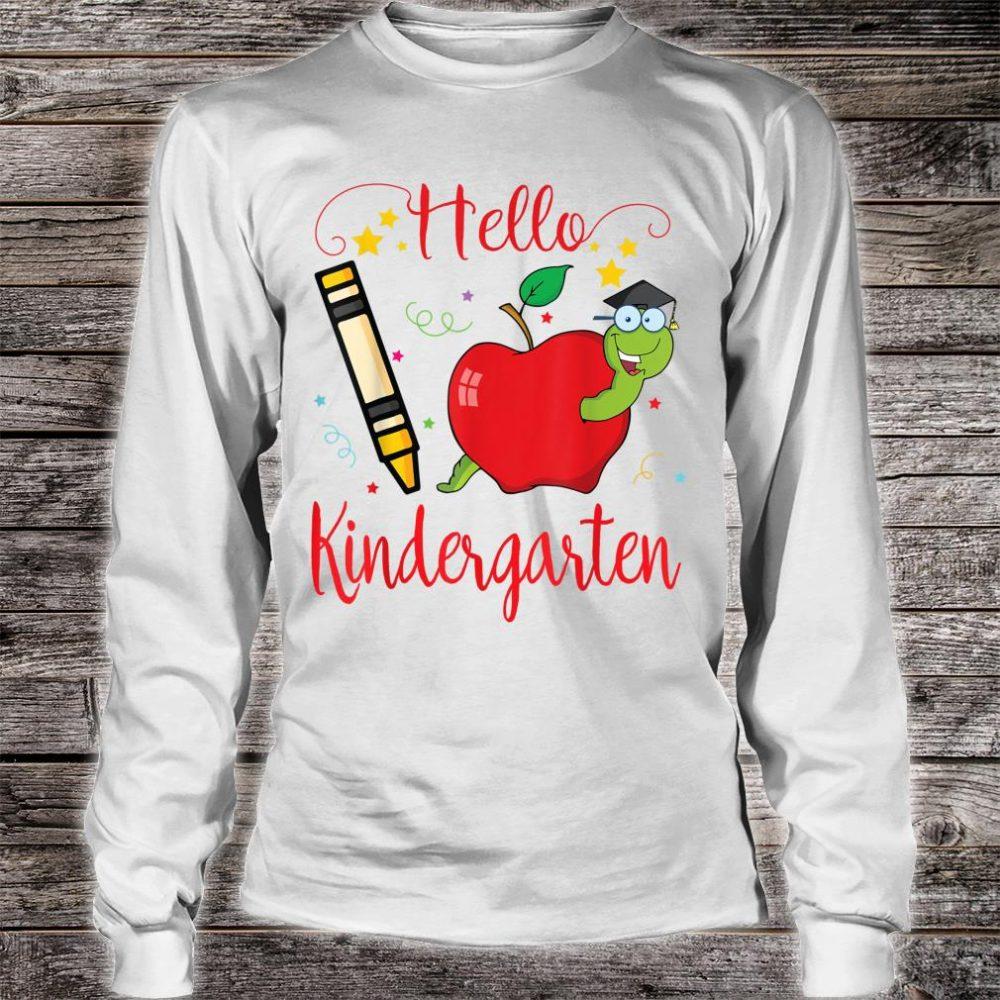 Star Crayon Pug Hello Kindergarten Happy 100th Day Of School Shirt long sleeved