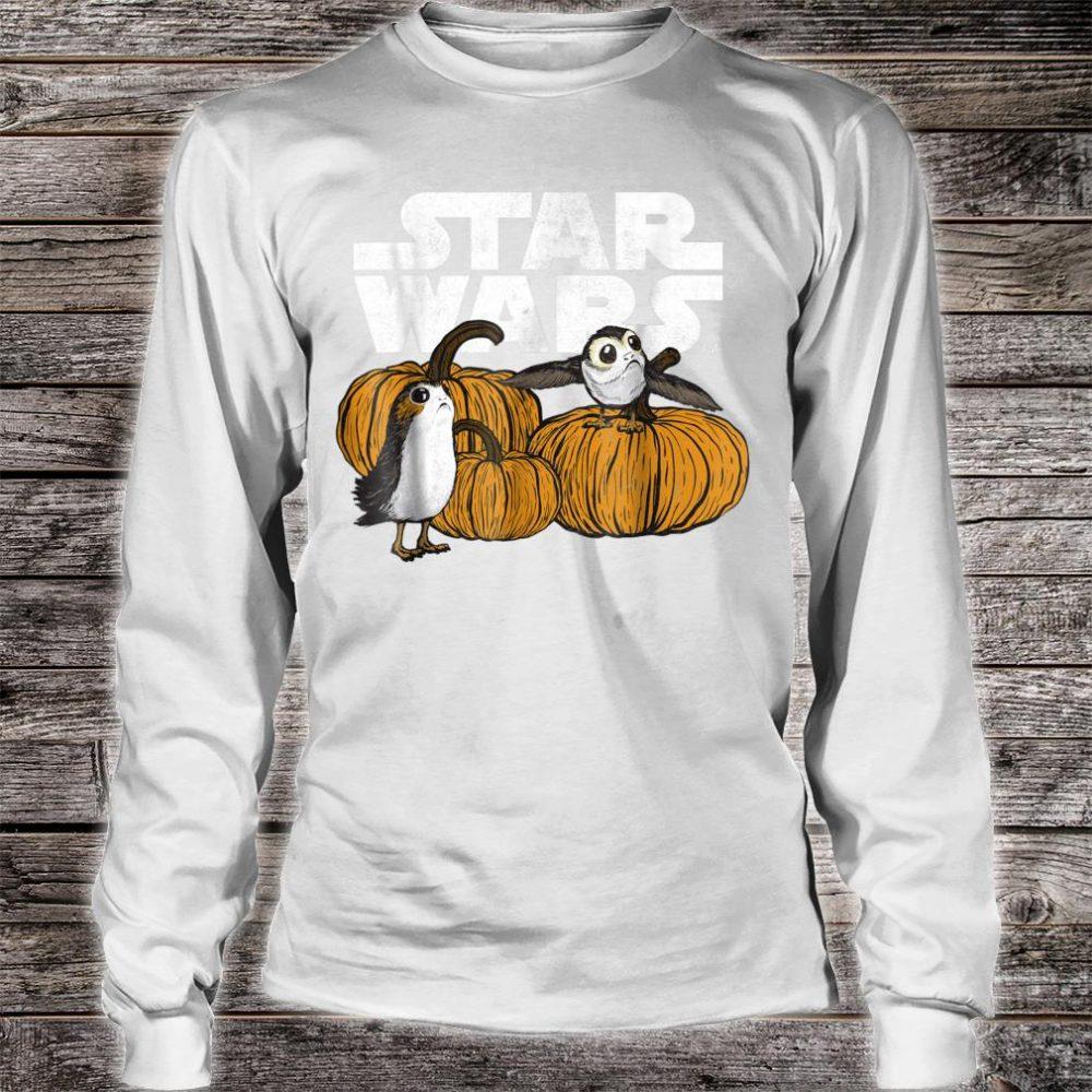 Star Wars Porg Pumpkin Patch Halloween Shirt long sleeved