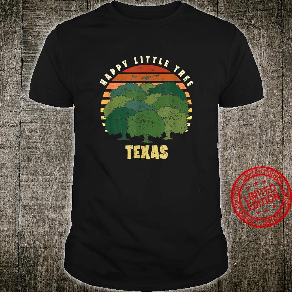 Texas Happy Little Tree Sunset Souvenir Shirt