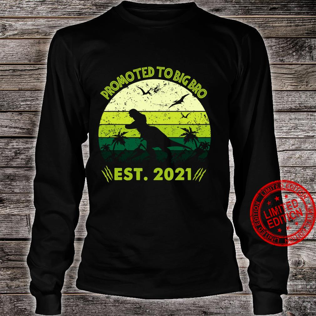 Th New Big Bro Est 2021 Costume Cool Pregnancy Annoucement Shirt long sleeved