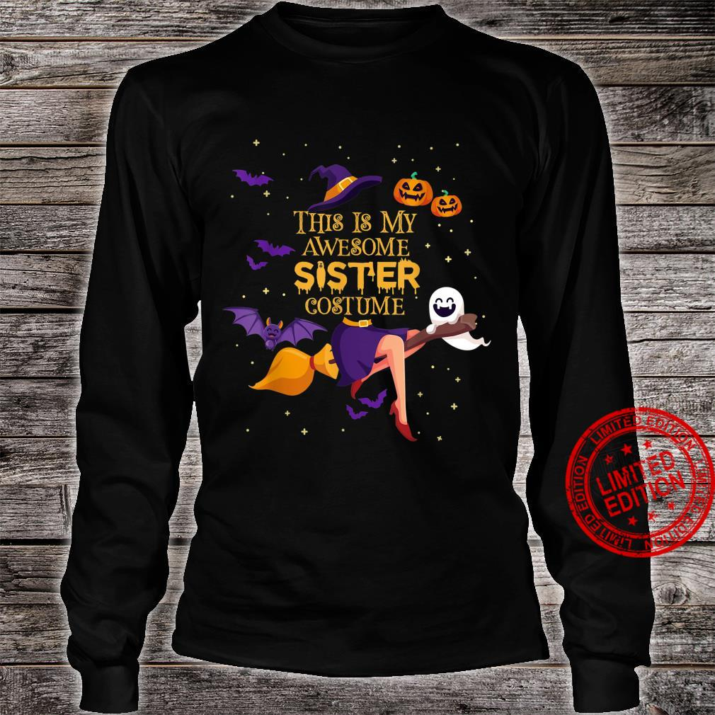 This Is My Awesome Sister Costume Halloween Shirt long sleeved