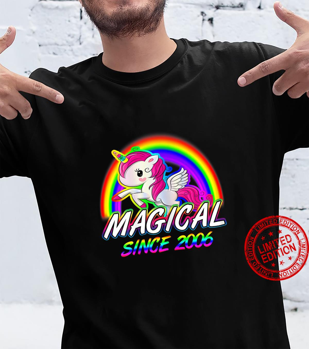 Unicorn Birthday Shirt Rainbow Magical Since 2006 Shirt