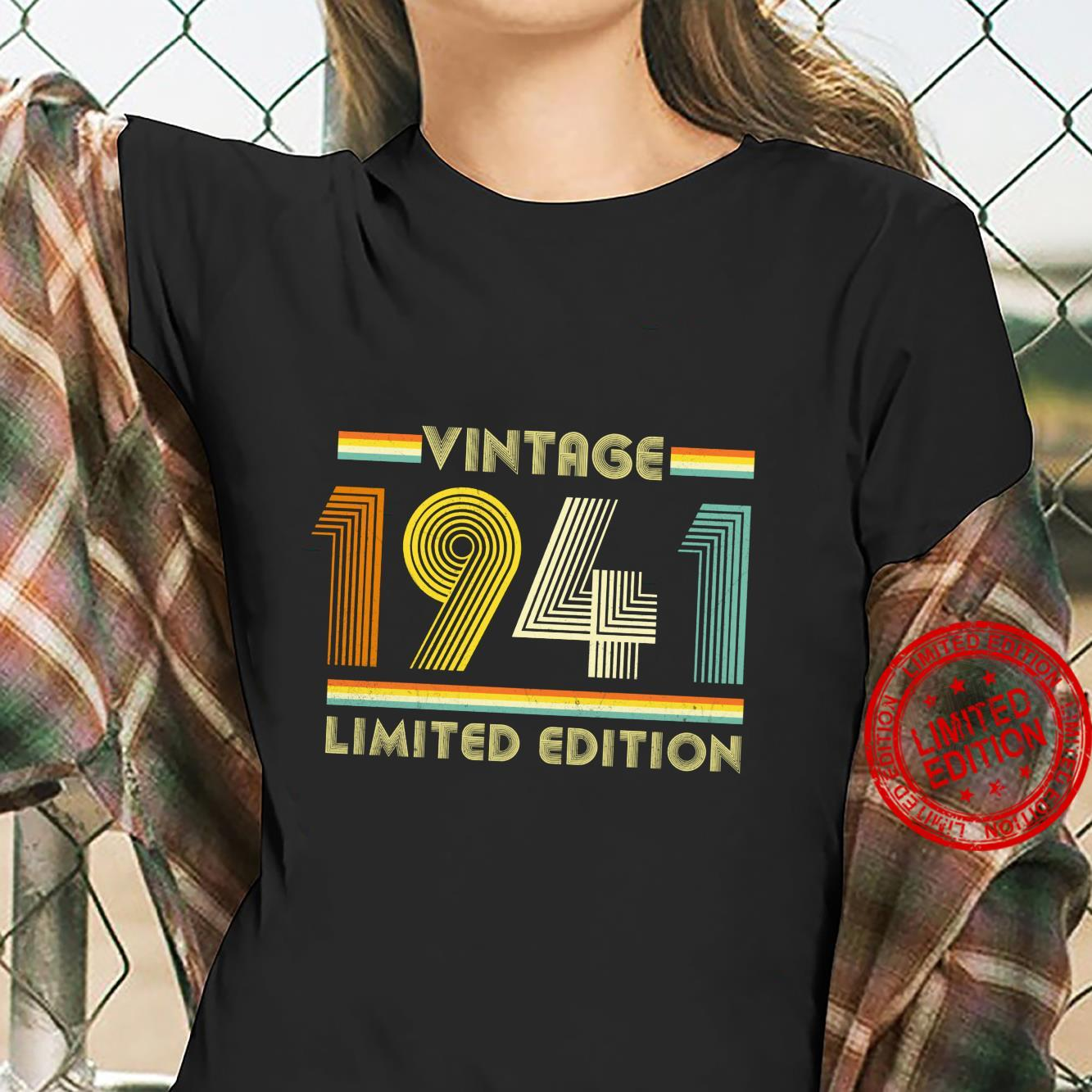 Vintage 1941 Shirt 80th Birthday for 80 Years Old Retro Shirt ladies tee