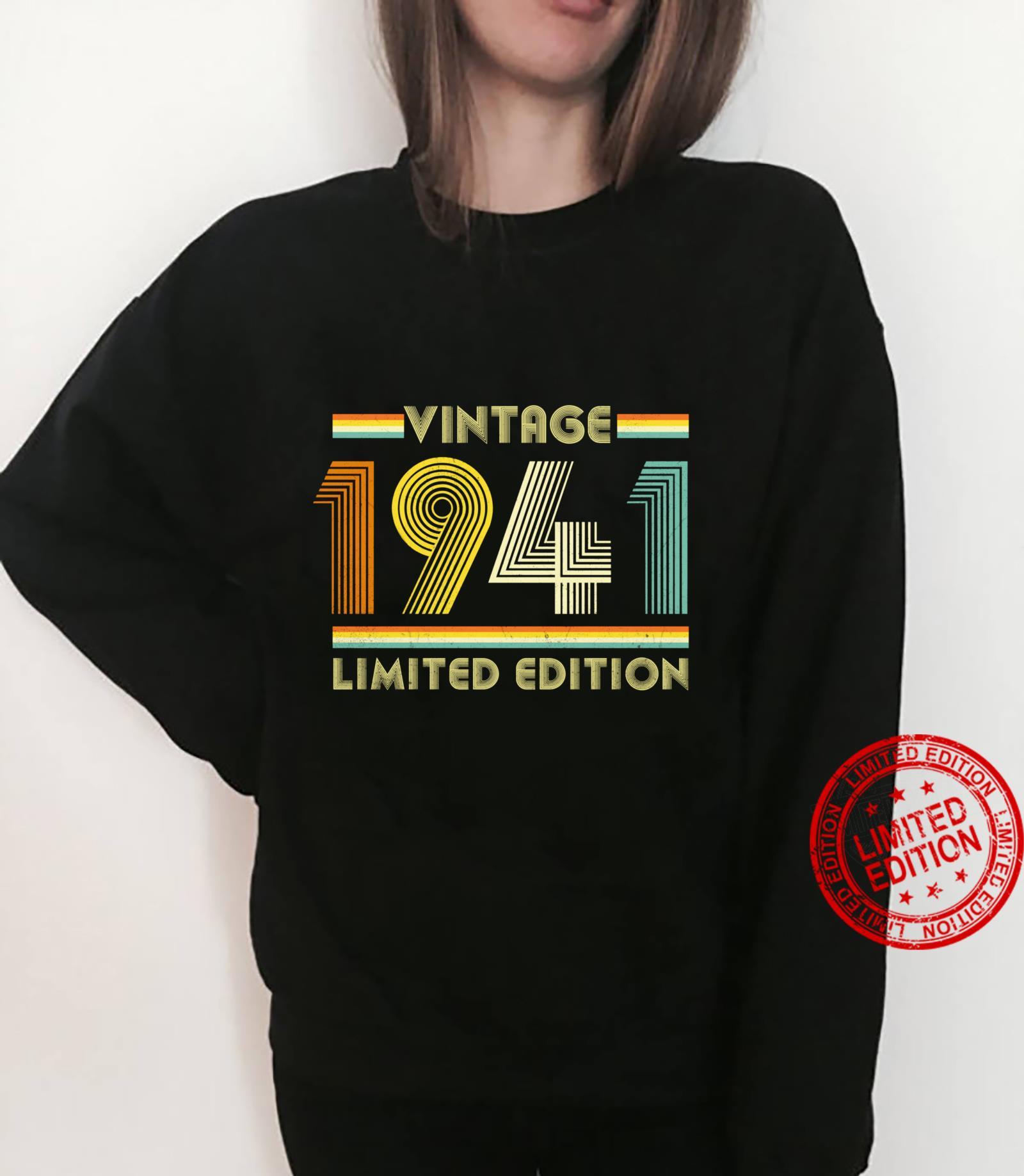 Vintage 1941 Shirt 80th Birthday for 80 Years Old Retro Shirt sweater