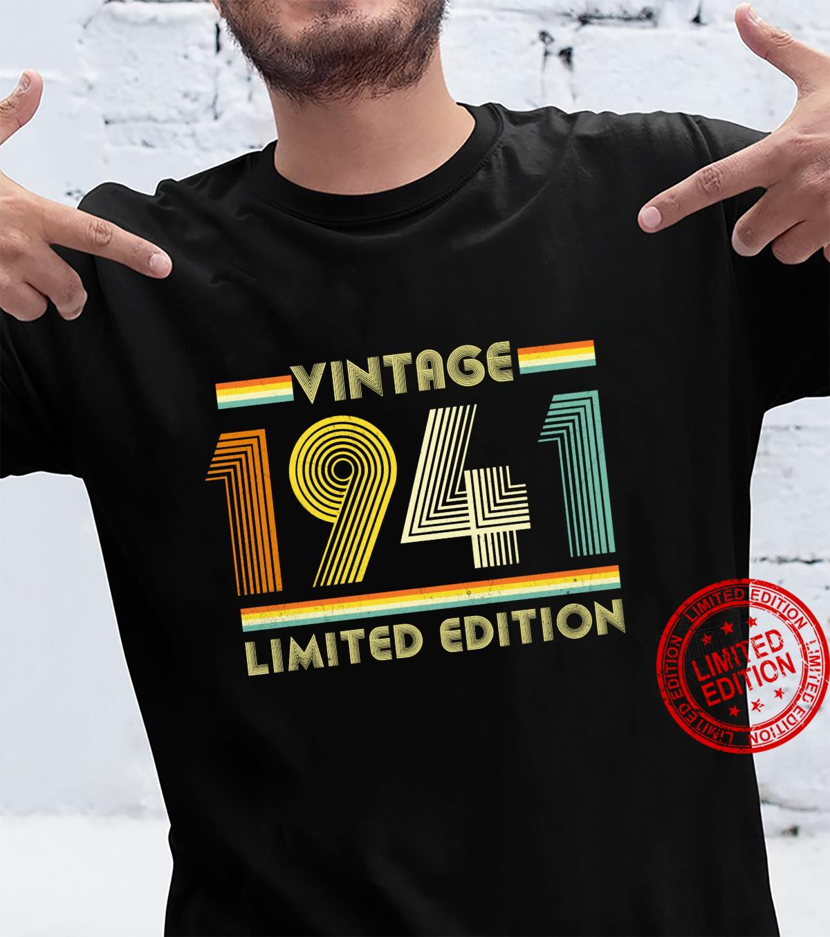 Vintage 1941 Shirt 80th Birthday for 80 Years Old Retro Shirt