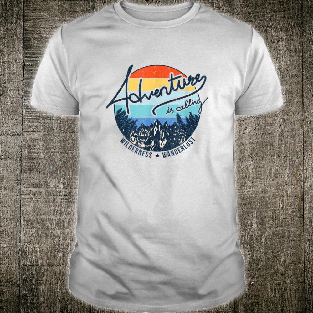 Vintage Adventure is Calling Wilderness Wanderlust Travel Shirt