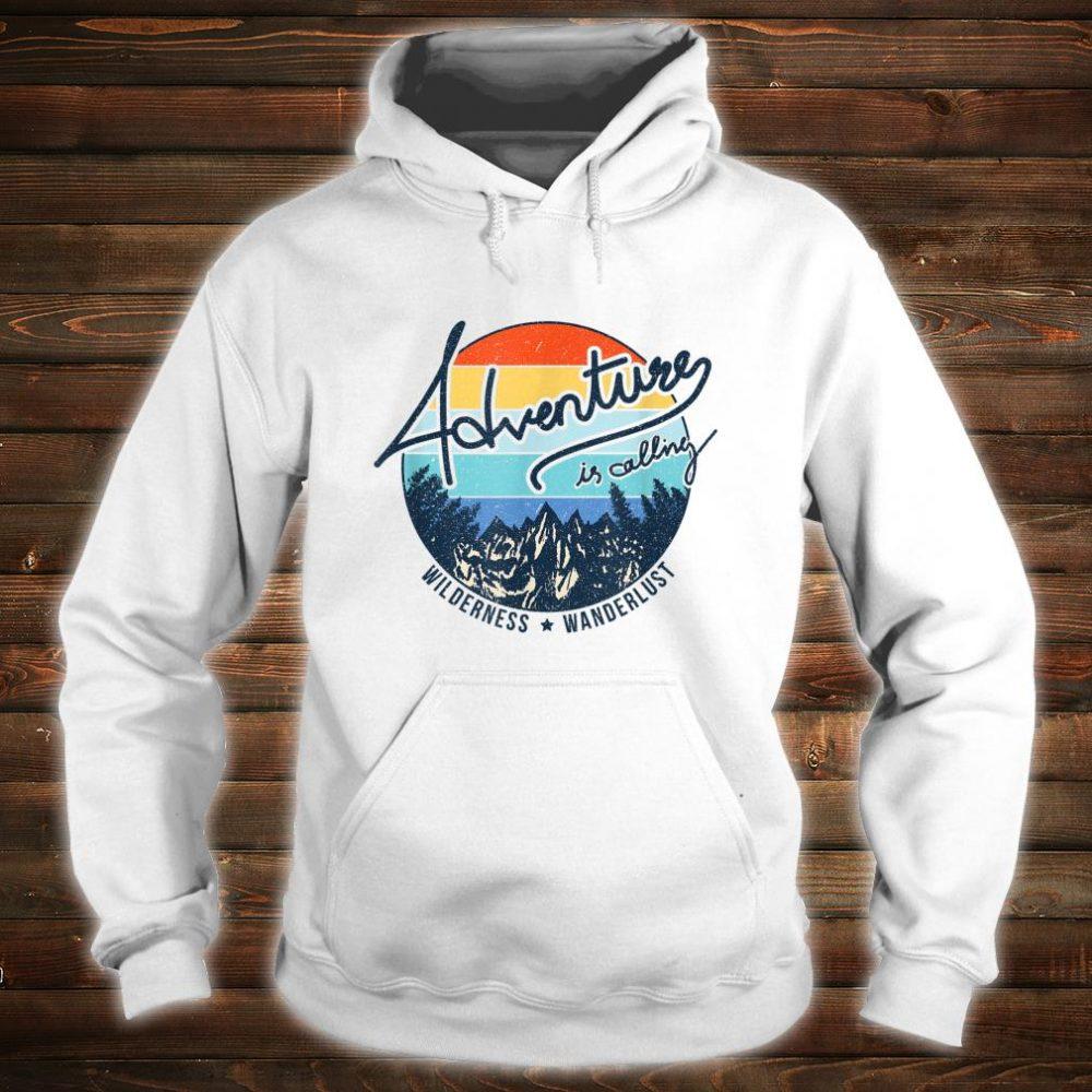 Vintage Adventure is Calling Wilderness Wanderlust Travel Shirt hoodie