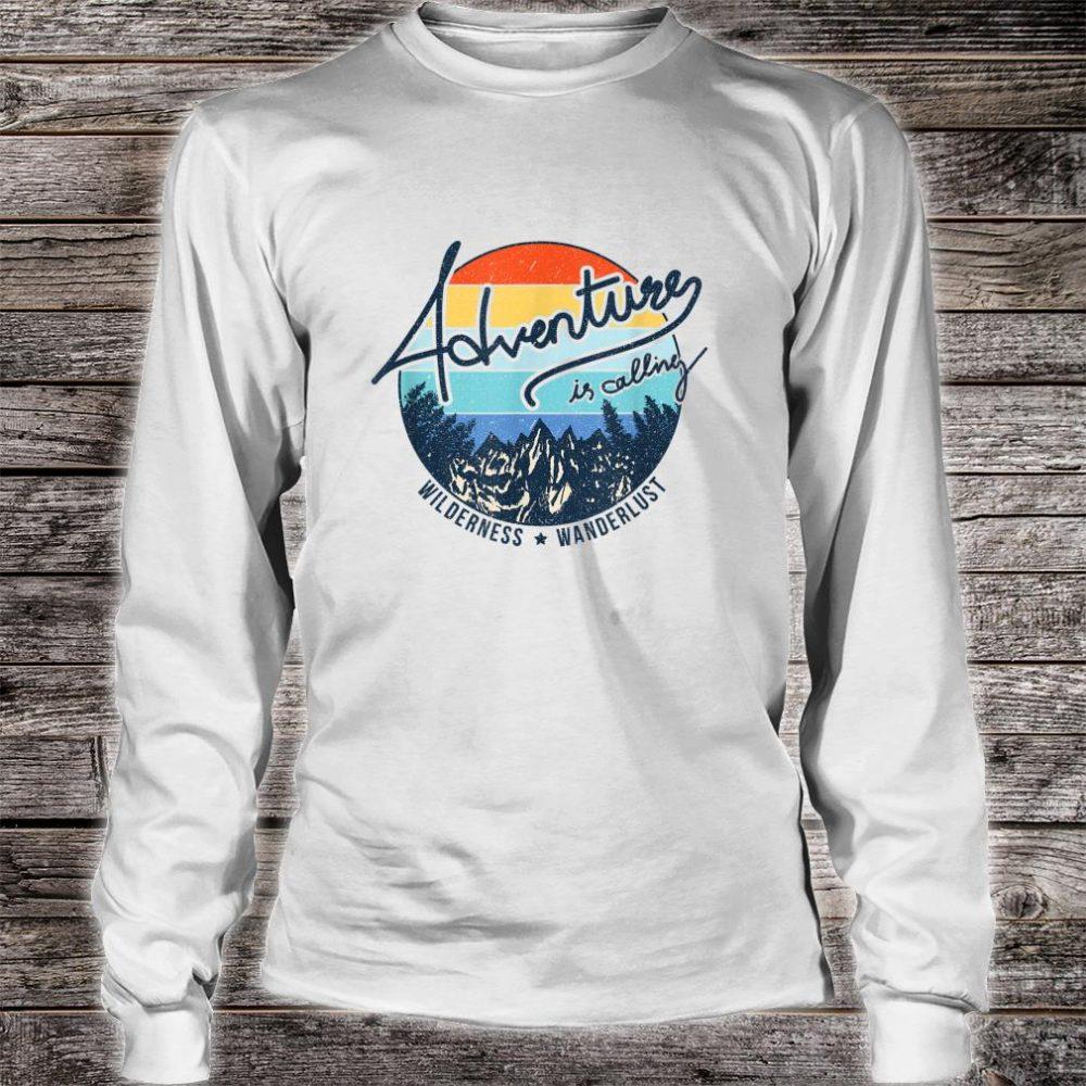 Vintage Adventure is Calling Wilderness Wanderlust Travel Shirt long sleeved