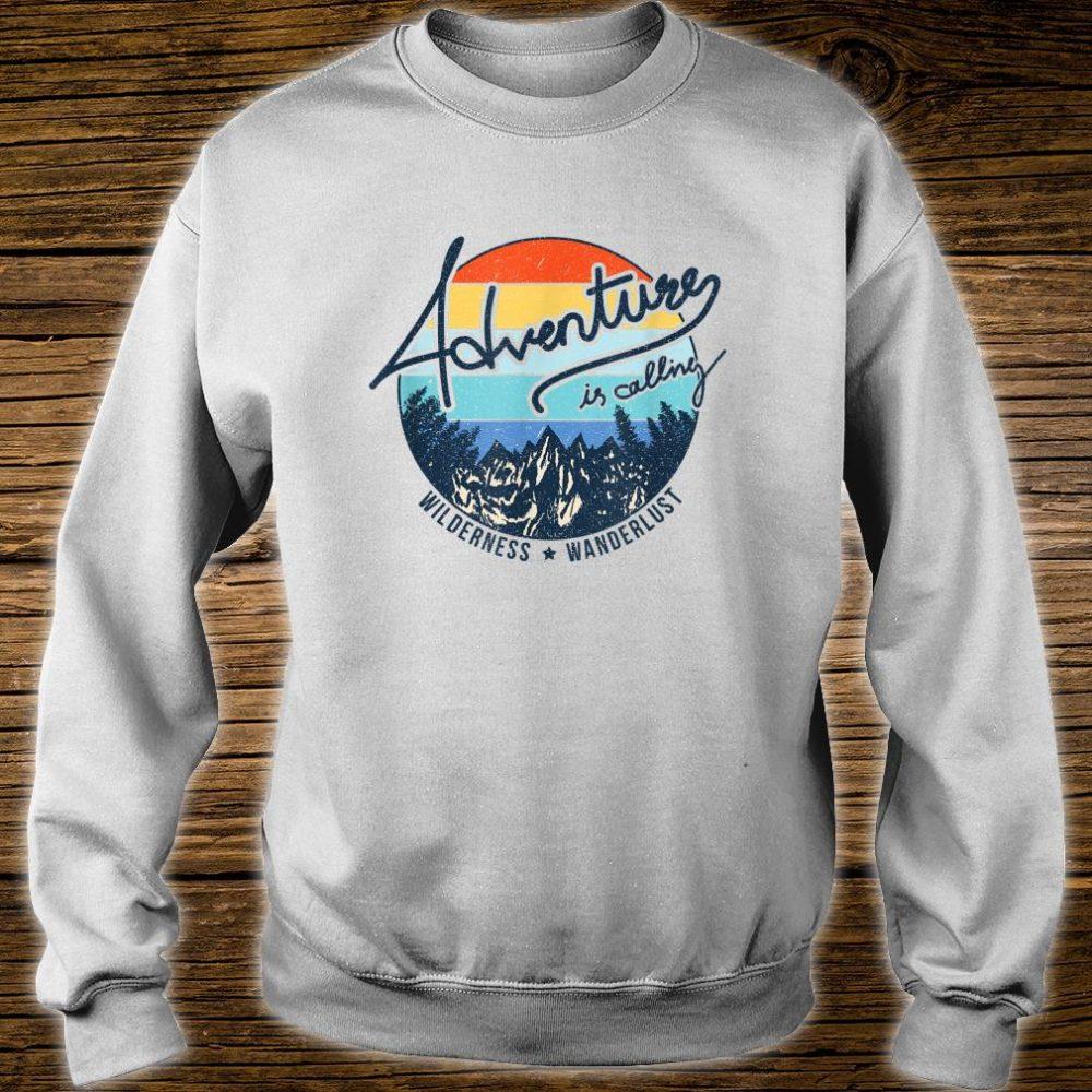 Vintage Adventure is Calling Wilderness Wanderlust Travel Shirt sweater