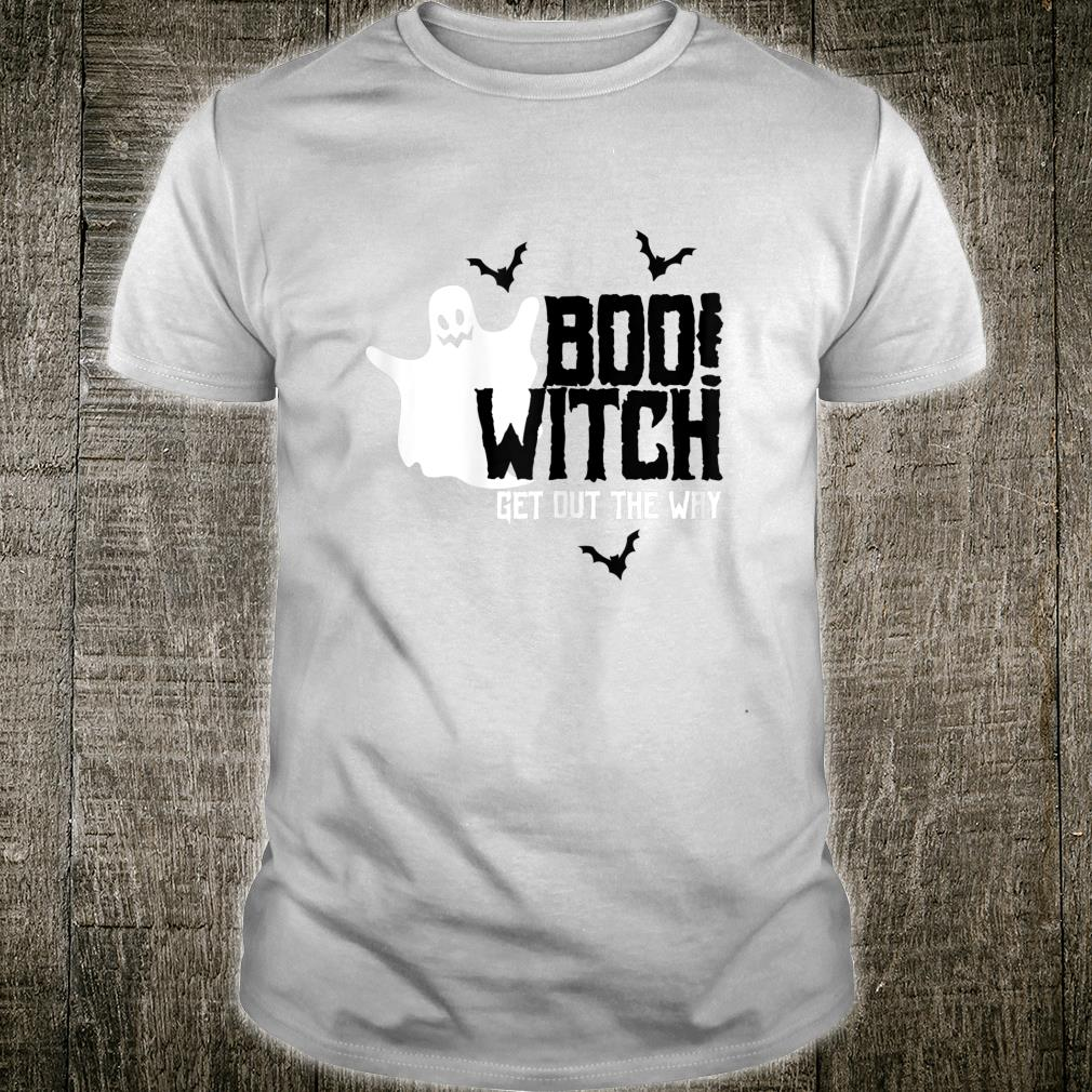 Vintage Boo Witch Get Out The Way Ghost Halloween Retro Shirt