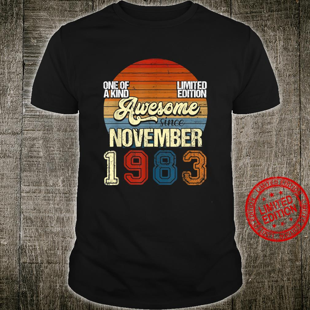 Vintage NOVEMBER 1983 37 Years Old 37th Birthday Shirt