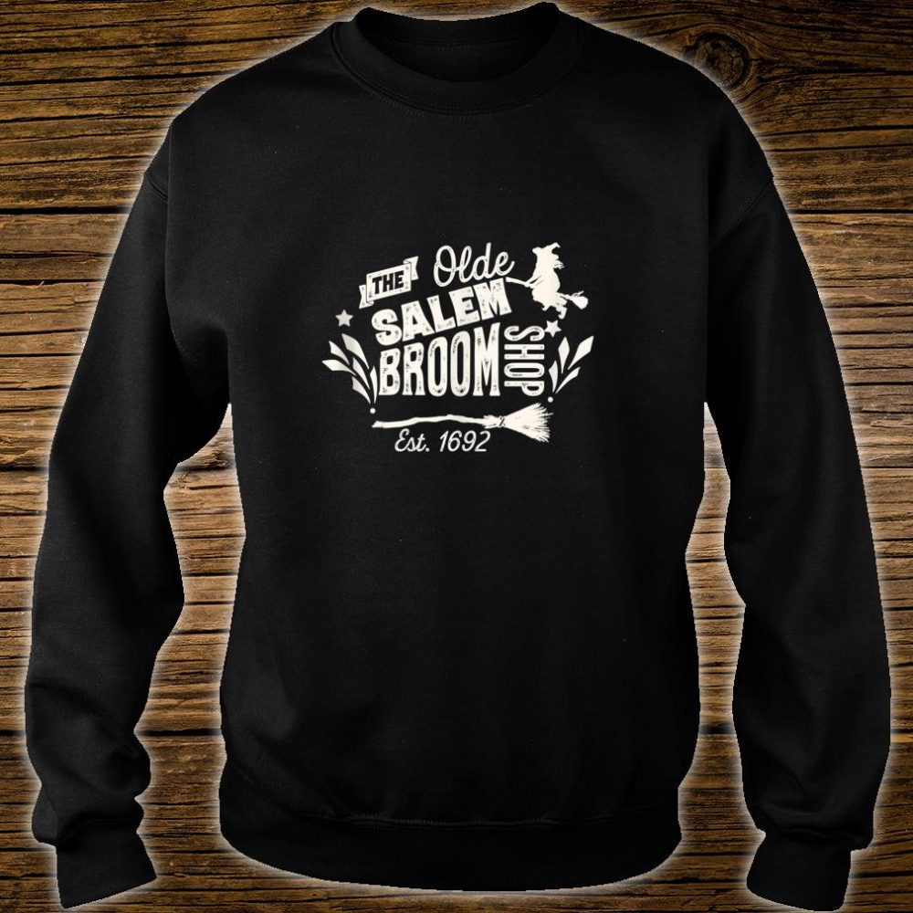 Vintage Witch Salem Broom Shop Unique Retro Halloween Shirt sweater