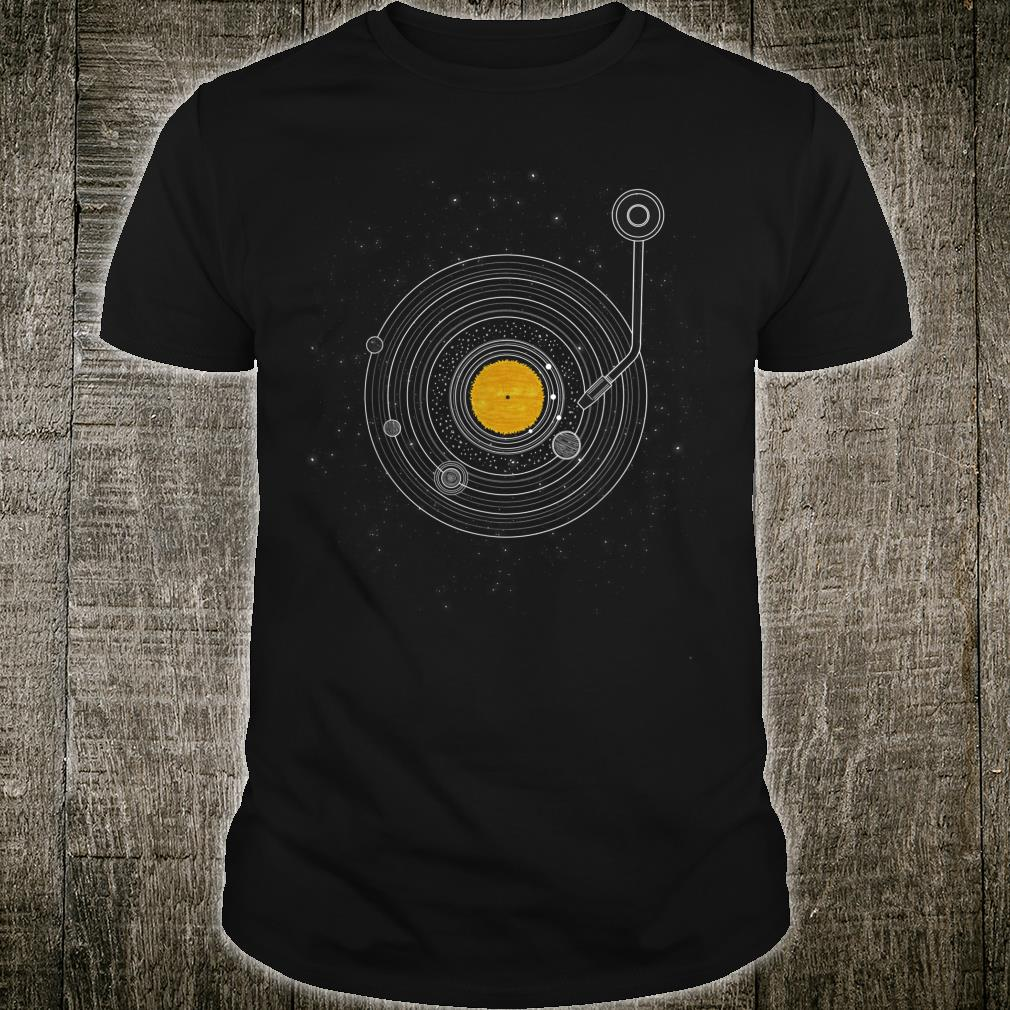 Vinyl Record Solar System Space Science Astronomy Shirt