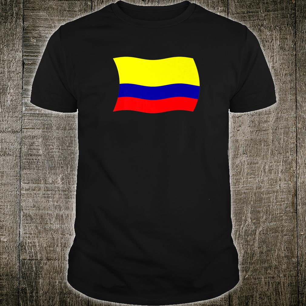 Wavy Flag of Colombia Colombian Shirt