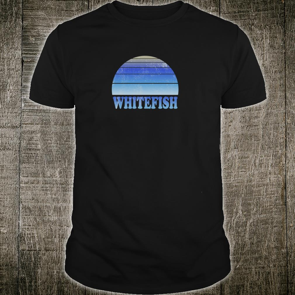 Whitefish Montana Top Clothes Adult n Ski Shirt
