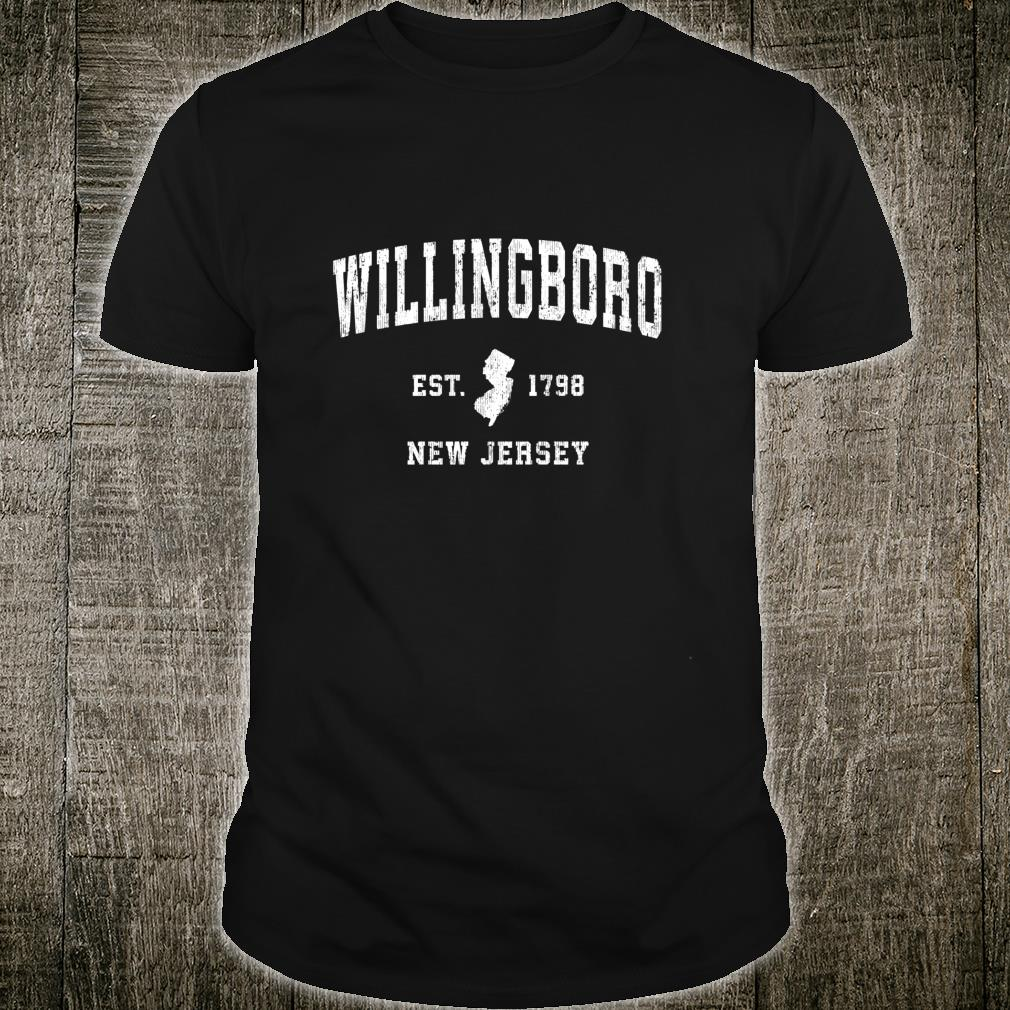 Willingboro New Jersey NJ Vintage Athletic Sports Design Shirt