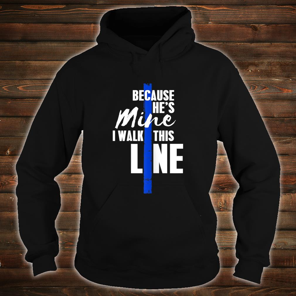 Wo Police Wife Shirt by Thin Blue Line Family Shirt hoodie