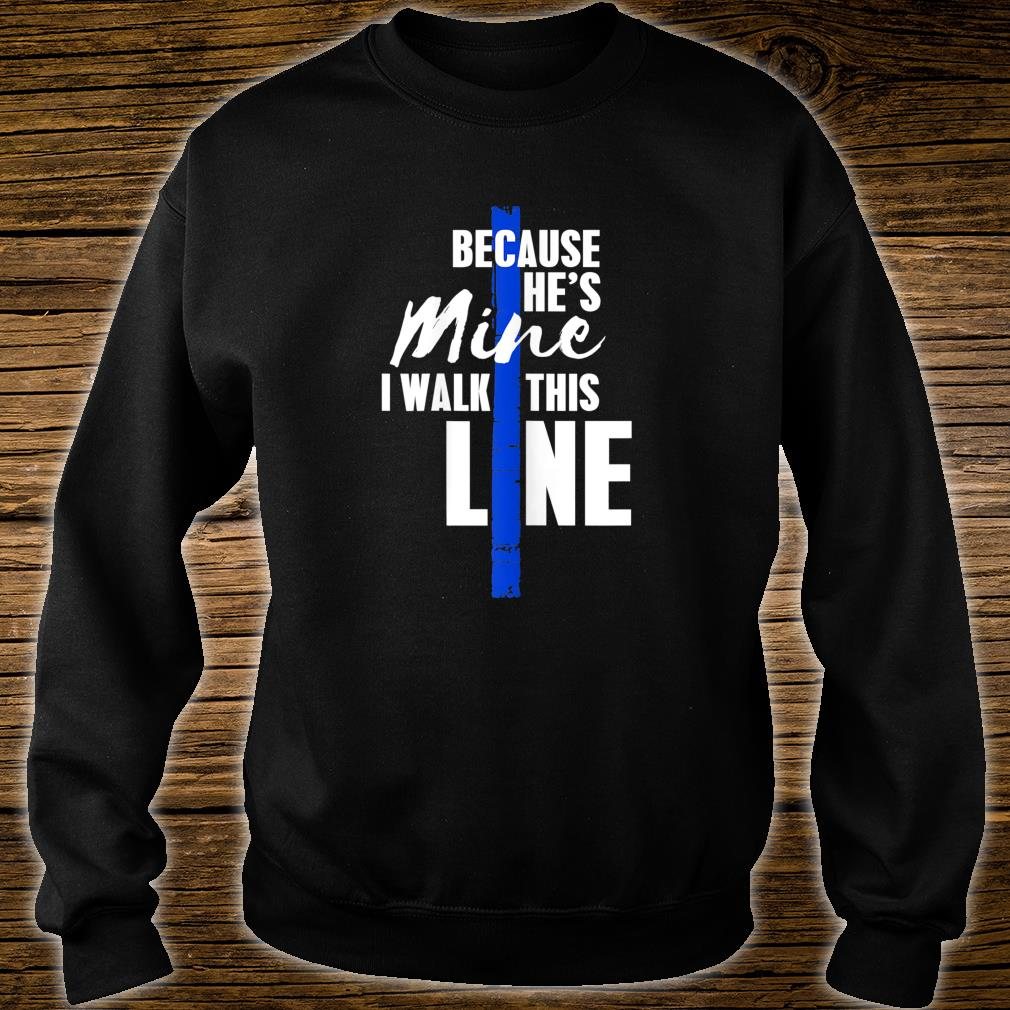 Wo Police Wife Shirt by Thin Blue Line Family Shirt sweater