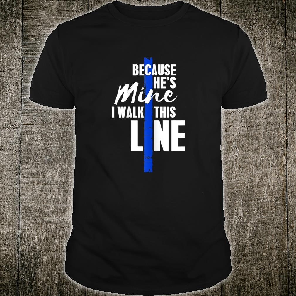 Wo Police Wife Shirt by Thin Blue Line Family Shirt