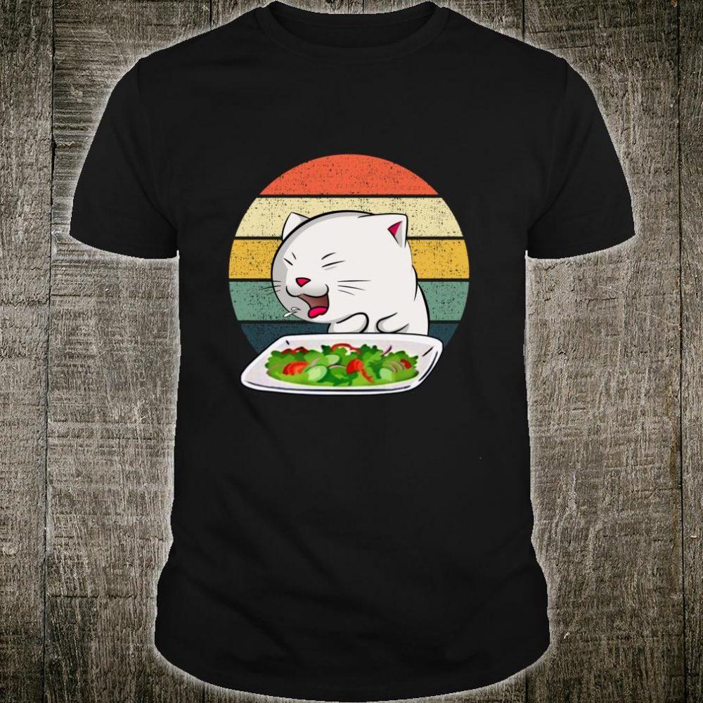Woman Yelling At Table Dinner Cat Meme Vintage Shirt