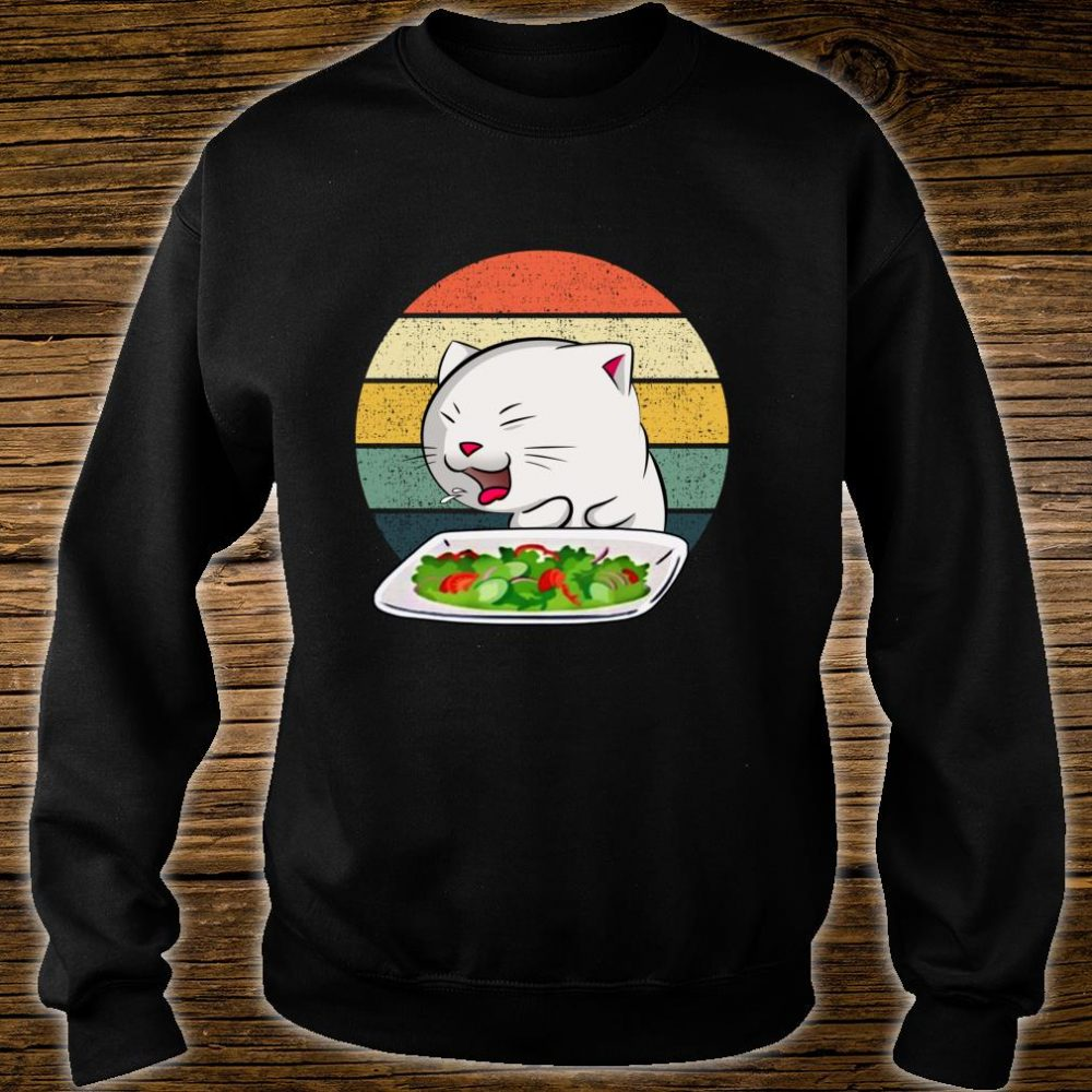 Woman Yelling At Table Dinner Cat Meme Vintage Shirt sweater
