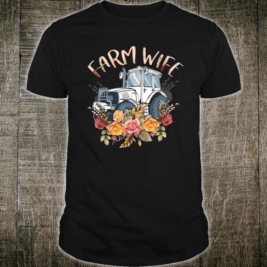 Women Farm Wife Farmers Farming Tractor Floral Shirt
