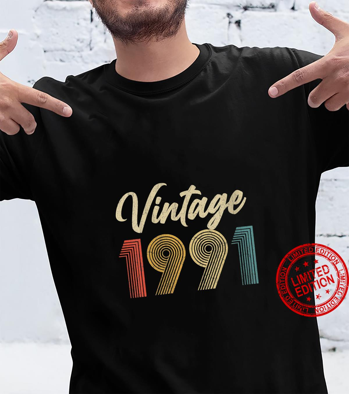 Womens 30th Birthday Vintage 1991 30 Years Old Retro Shirt