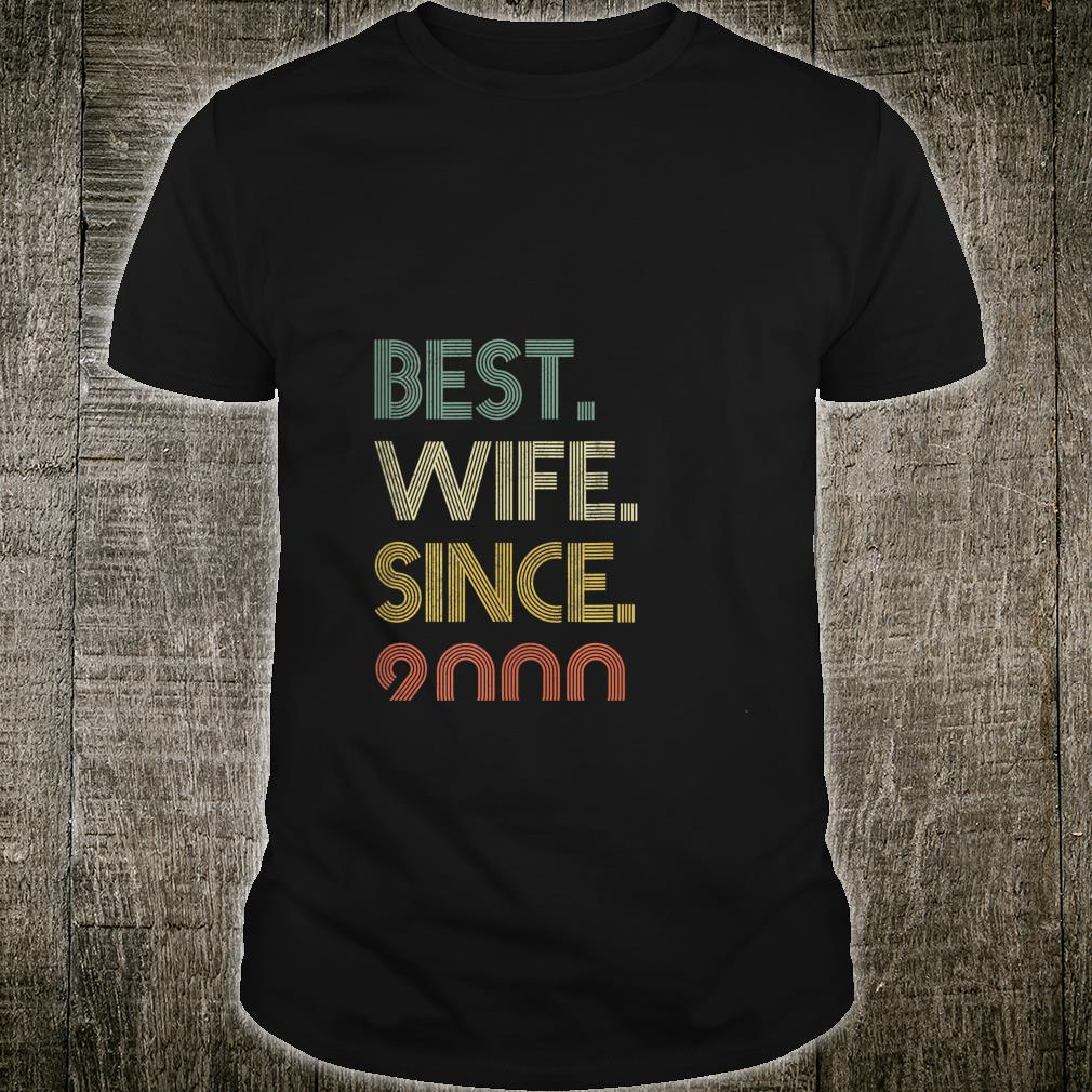 Womens Best Wife Since 2000 Epic Matching 20th Wedding Anniversary Shirt