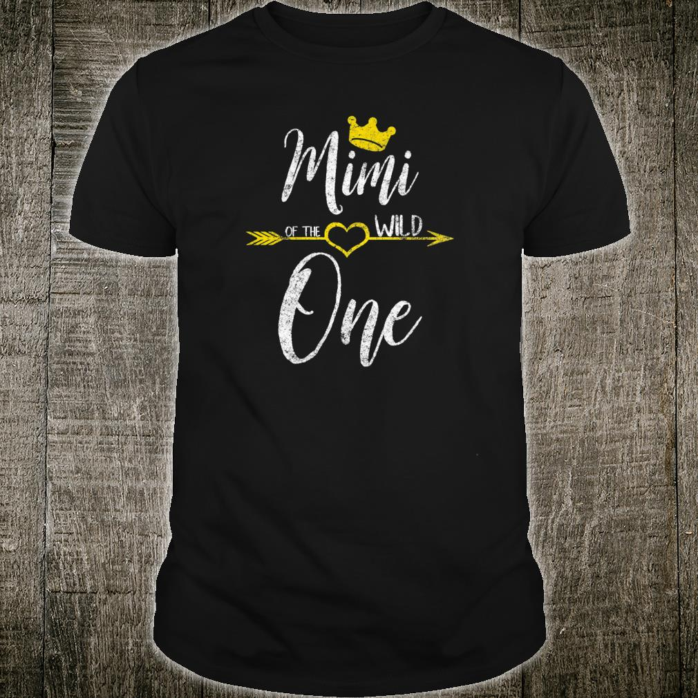 Womens Cute Mother's Day Mimi Of The Wild One Shirt