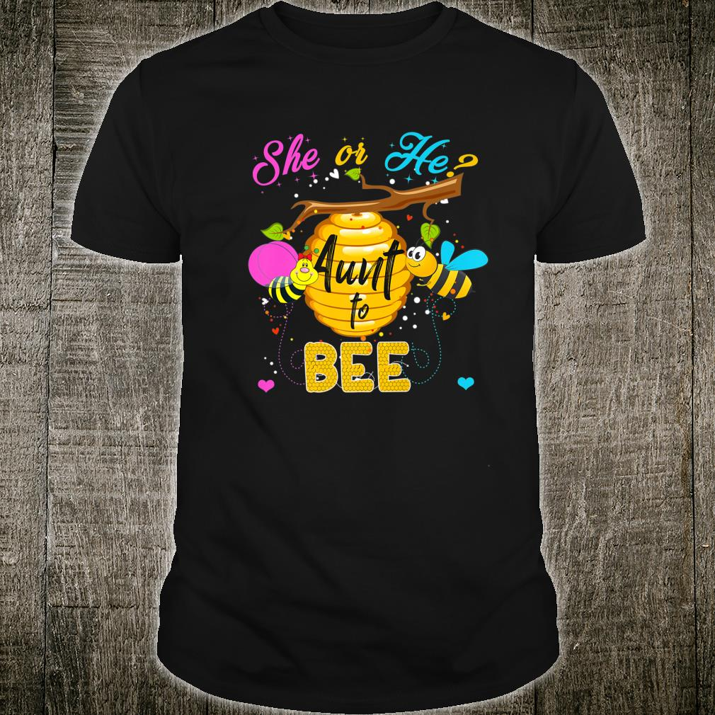 Womens Gender Reveal What Will It Bee Shirt He or She Aunt Shirt
