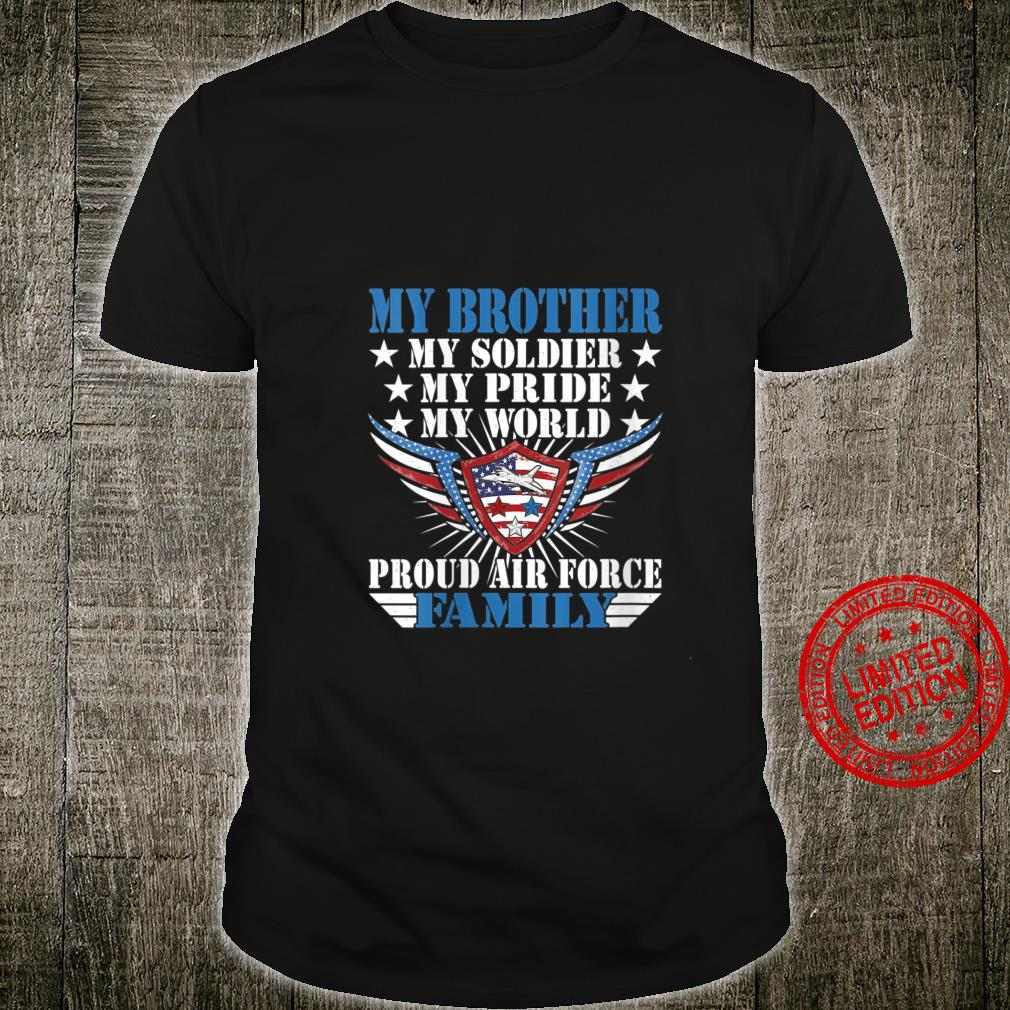 Womens My Brother Is A Soldier Airman Proud Air Force Family Shirt