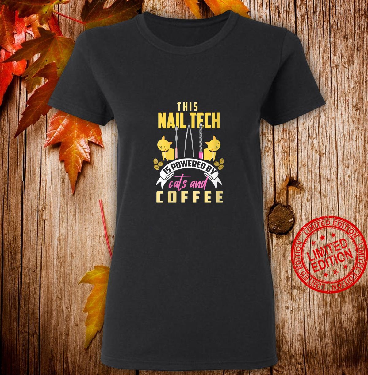 Womens Nail Tech Shirt Cats and Coffee Manicurist Shirt ladies tee