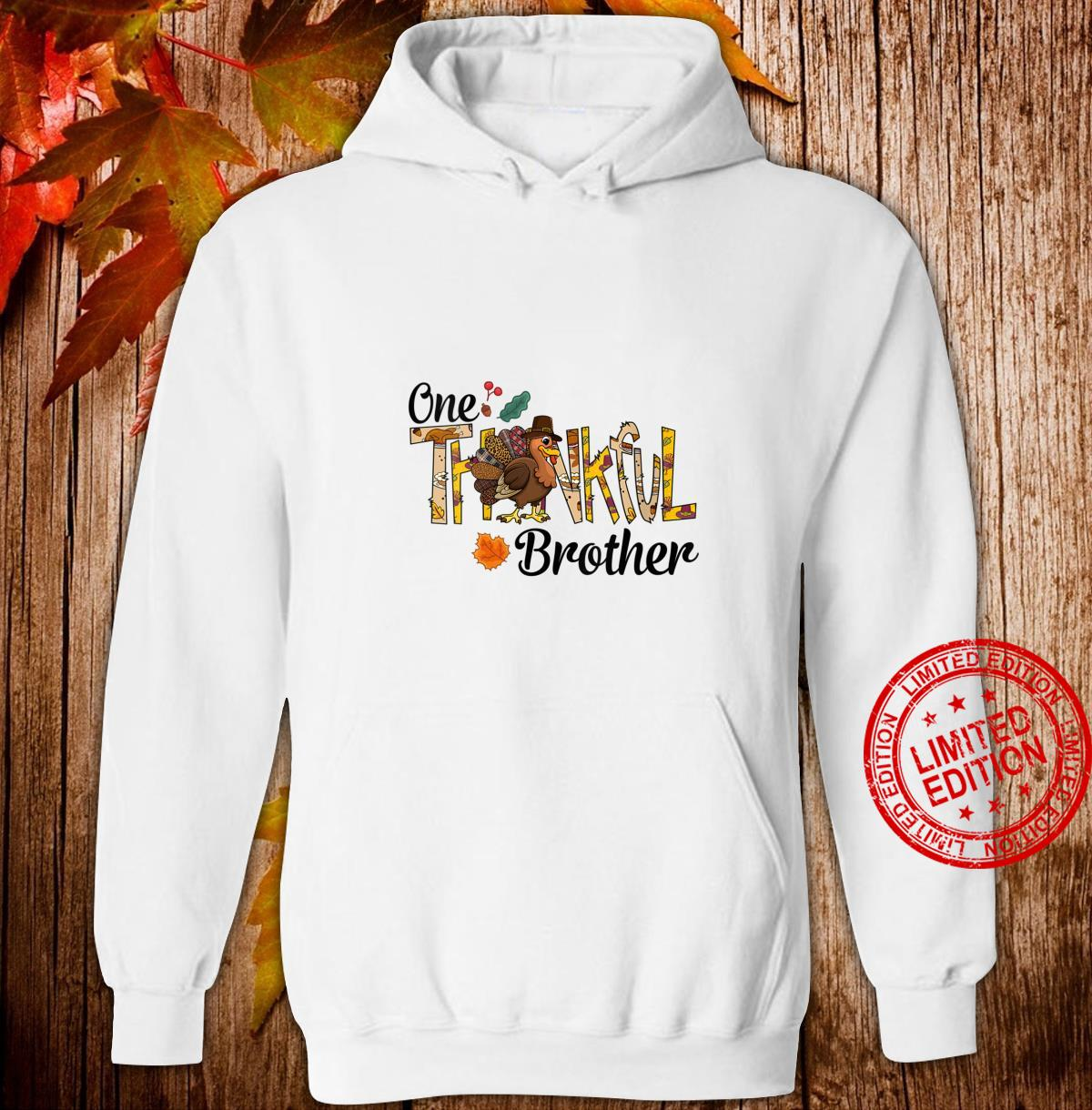 Womens One Thankful Brother Thanksgiving Matching Turkey Shirt hoodie