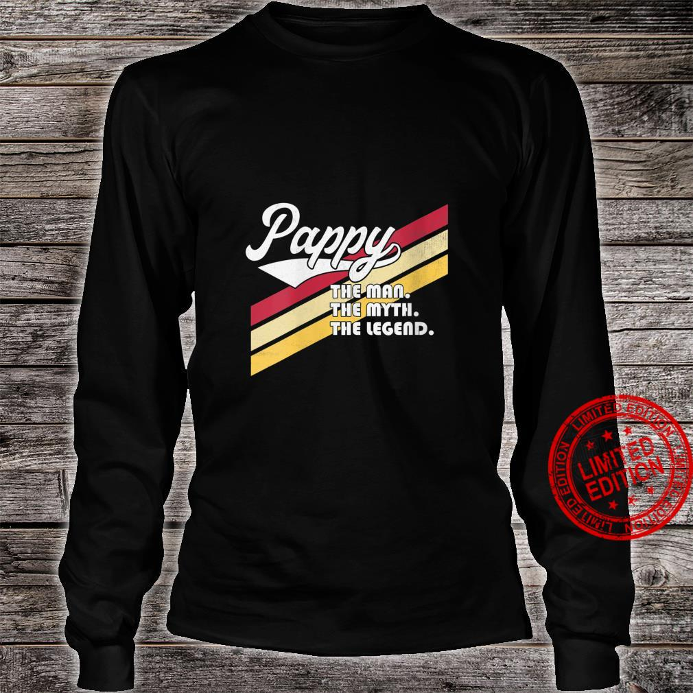 Womens Pappy The Man The Myth The Legend Father's Day Grandpa Shirt long sleeved