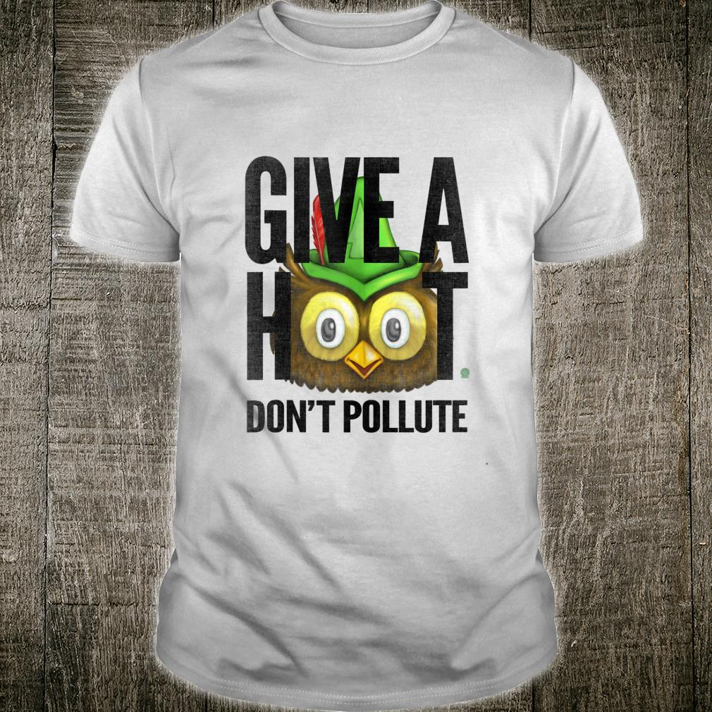 Woodsy Owl Give a Hoot Don't Pollute Distressed Vintage Shirt