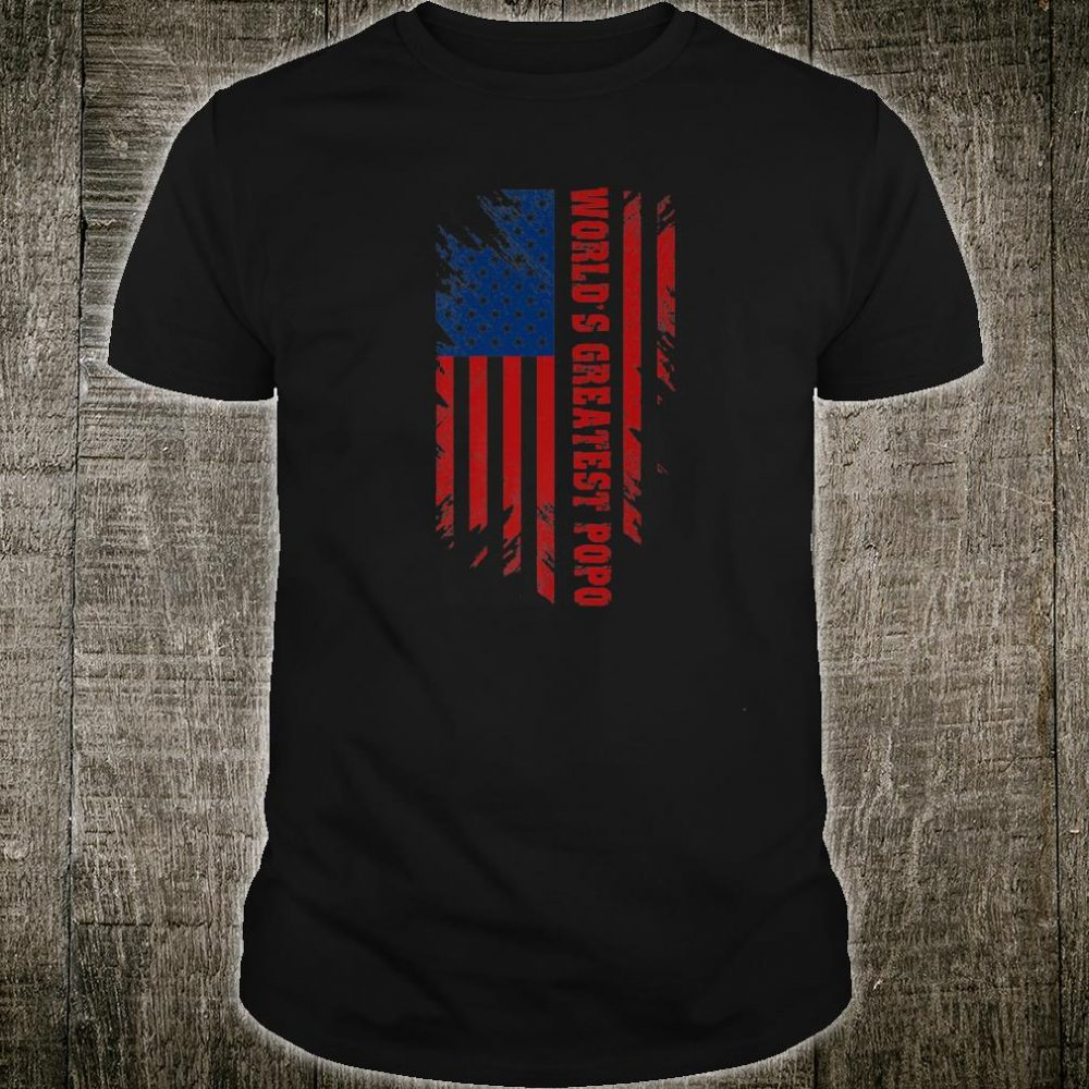 World's Greatest Popo American Flag Father's Day Shirt