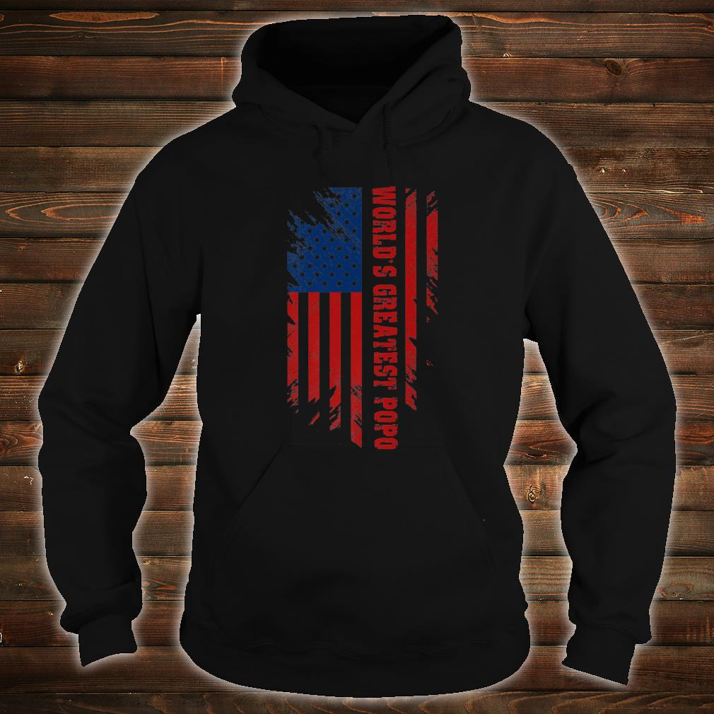 World's Greatest Popo American Flag Father's Day Shirt hoodie