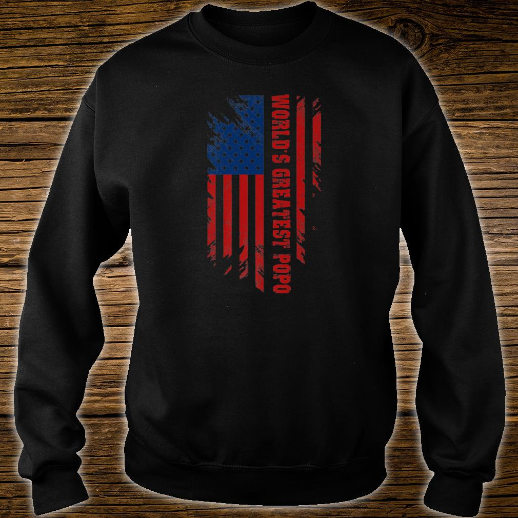 World's Greatest Popo American Flag Father's Day Shirt sweater