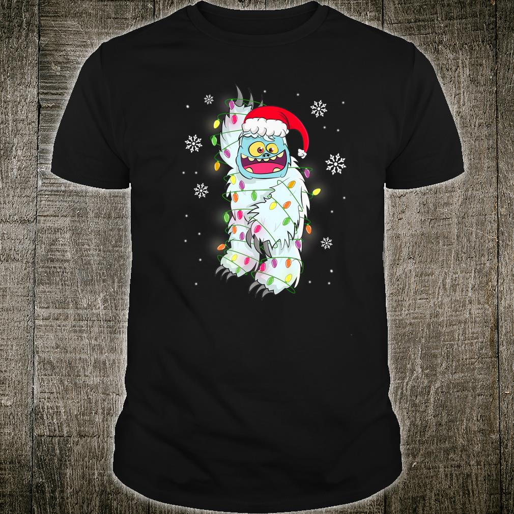 Yeti Bigfoot Tree Abominable Snowman Christmas Santa Hat Shirt