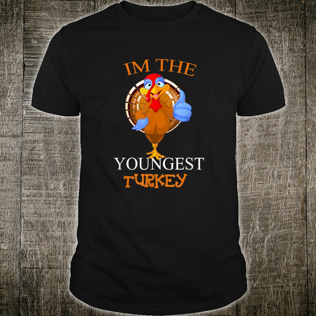 Youngest Turkey Matching Family PJs Outfit Thanksgiving Shirt
