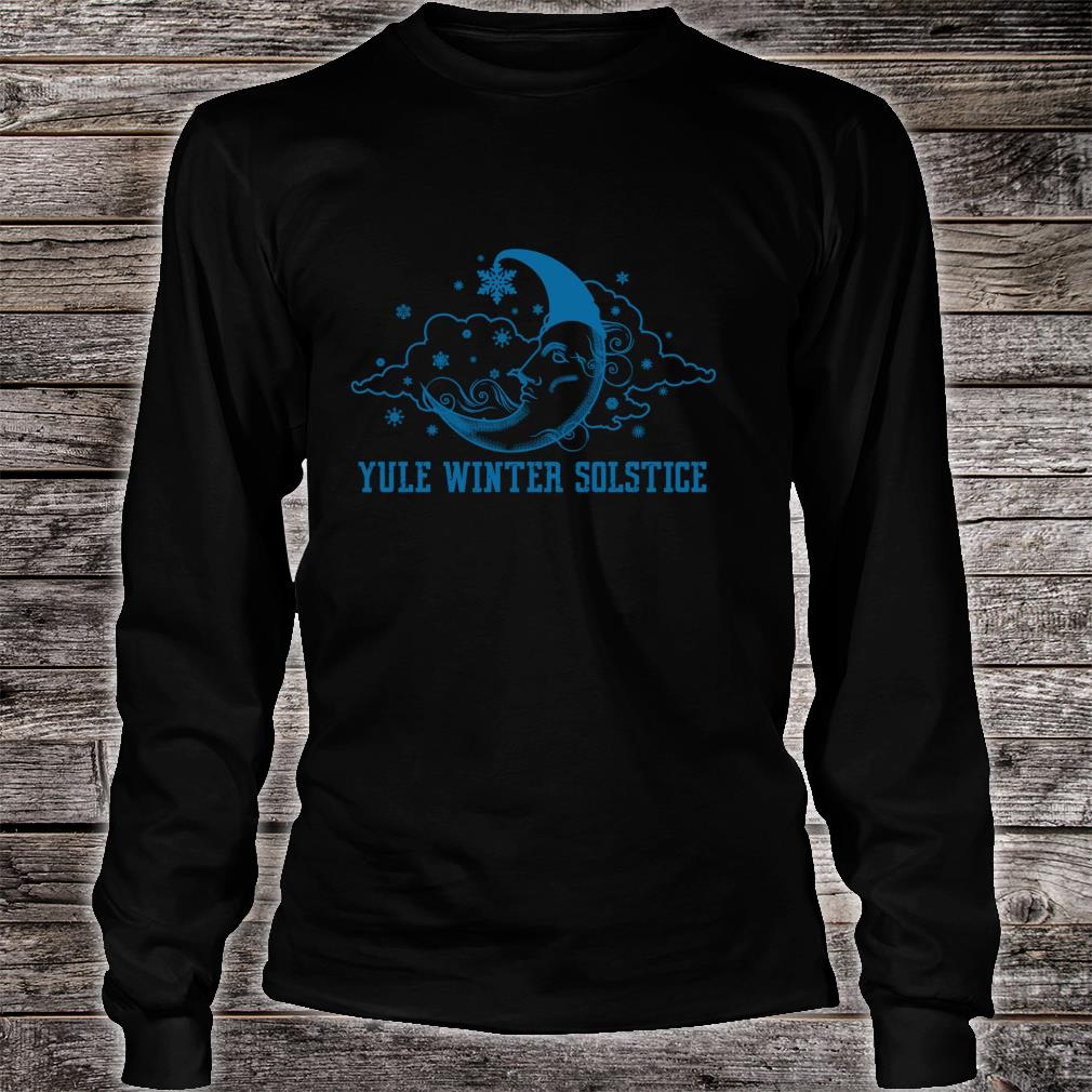 Yule Winter Solstice Sun Moon Celestial Pagan Sky Ritual Shirt long sleeved