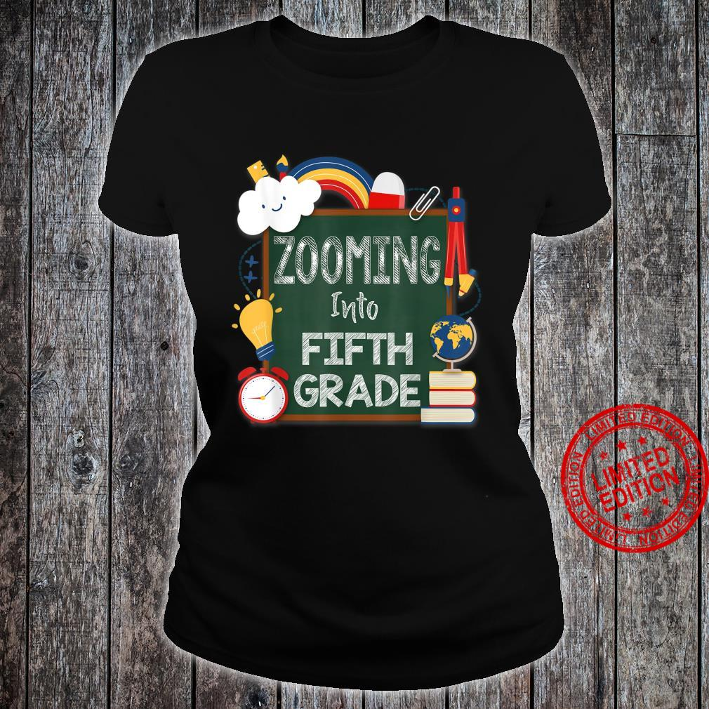 Zooming Into Fifth Grade Virtual Back to School Kid 5th Shirt ladies tee