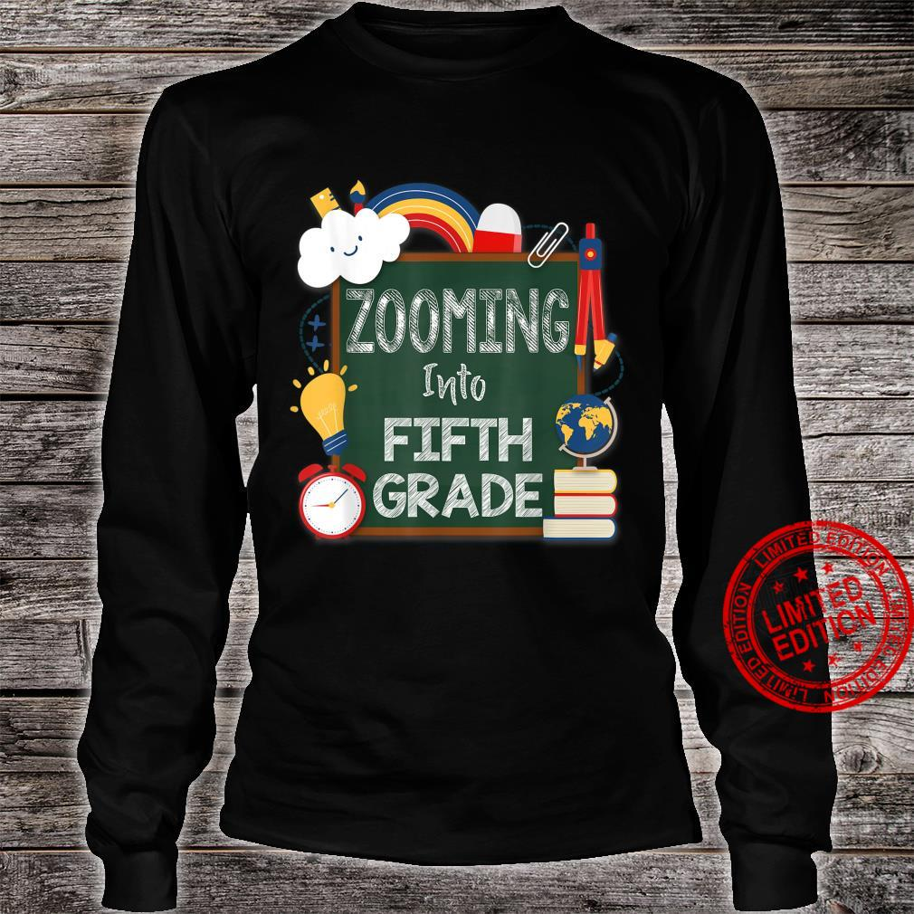 Zooming Into Fifth Grade Virtual Back to School Kid 5th Shirt long sleeved