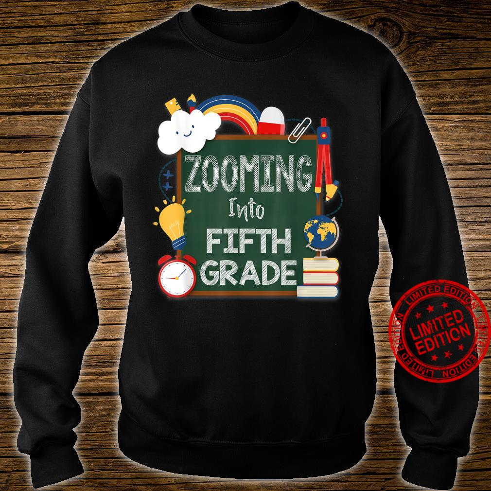 Zooming Into Fifth Grade Virtual Back to School Kid 5th Shirt sweater